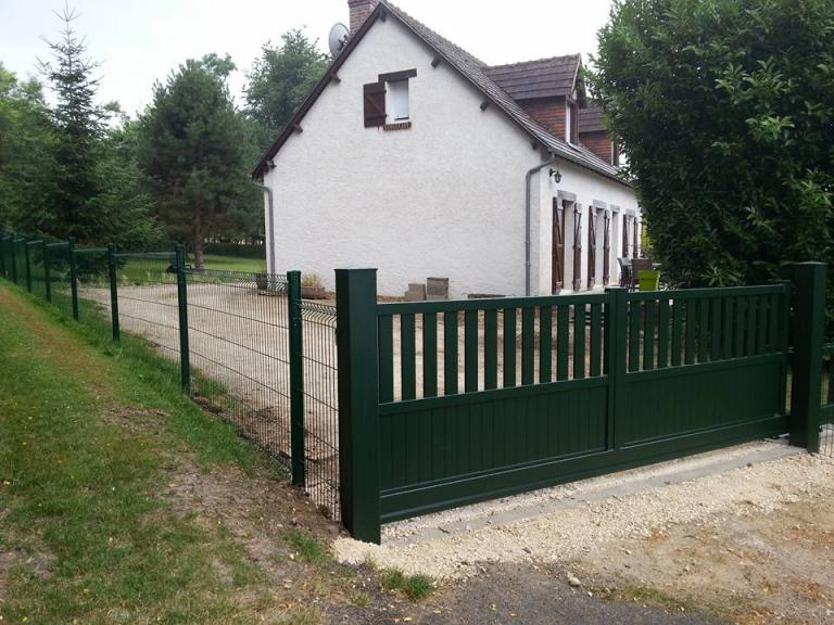 Portail et Cloture Aluminium Vert