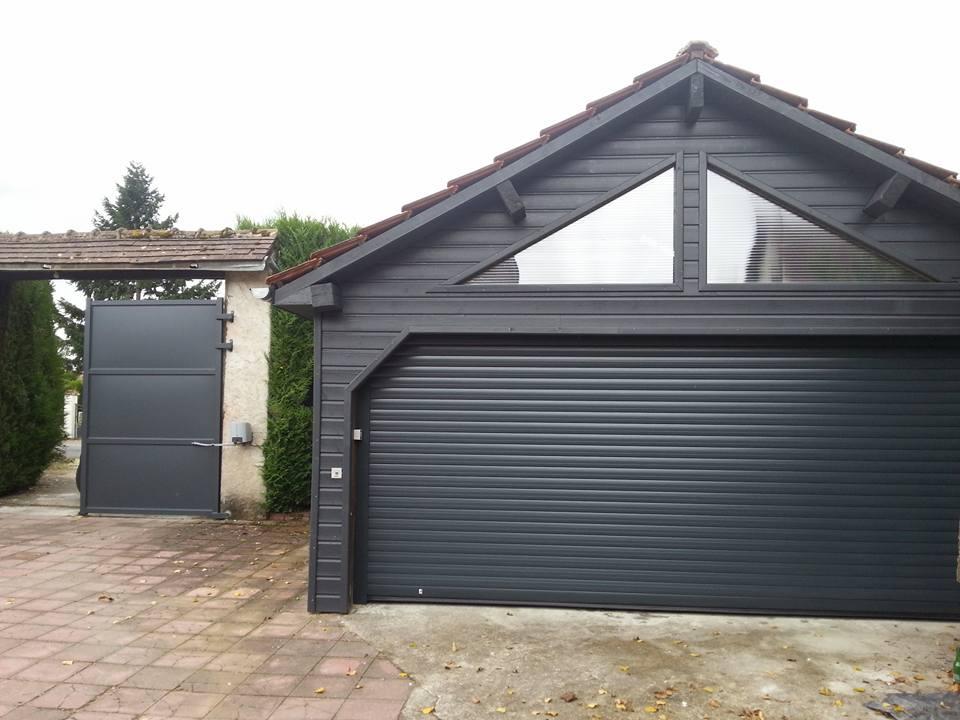 Portail et porte de garage Aluminium ral 7016